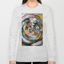 abstract ink flower x Long Sleeve T-shirt