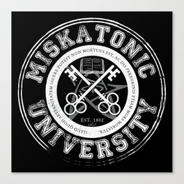 Miskatonic University Emblem (Dark version) Canvas Print