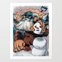 Polar Knight Makes a Friend Art Print