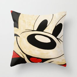 La Petite Souris Face Throw Pillow