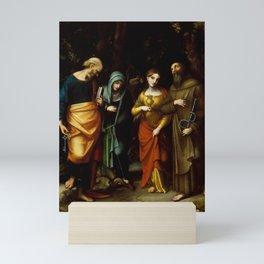 "Antonio Allegri da Correggio ""Saints Peter, Martha, Mary Magdalen, and Leonard"" Mini Art Print"