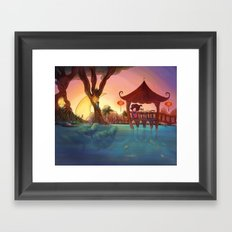 Friends from afar Framed Art Print