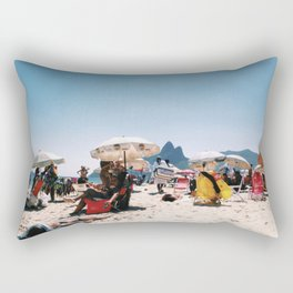 Ipanema beach in the middle of summer Rectangular Pillow