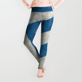 Greek flag in retro grunge Leggings