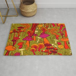 Mushrooms in the Forest Rug
