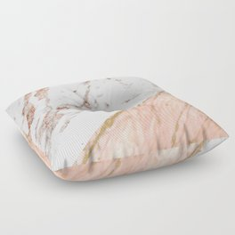 Marble rose gold blended Floor Pillow