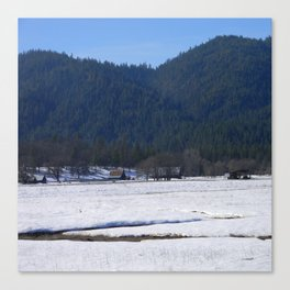 Beautiful wintry day in Hayfork, California.... Canvas Print