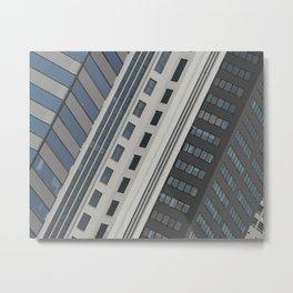 Singapur Skyline Glas Window Front Metal Print