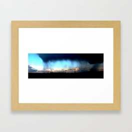 Cave from clouds.  Framed Art Print