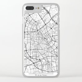 Tianjin Map White Clear iPhone Case