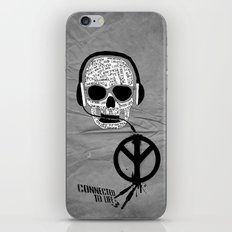 Love' skull -  a collaboration between Sam Guilhen and Gwenola de Muralt - iPhone & iPod Skin