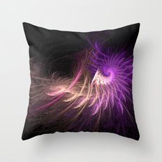 Spiralled Feathers Throw Pillow