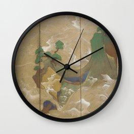 Waves at Matsushima (松島での波) by Tawaraya Sōtatsu (俵屋 宗達) Wall Clock