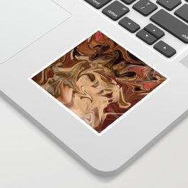 Sundae: two scoops of digital abstraction Sticker