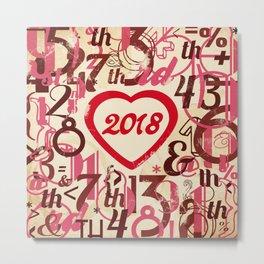 Heart 2018 She - Notebooks & more Metal Print