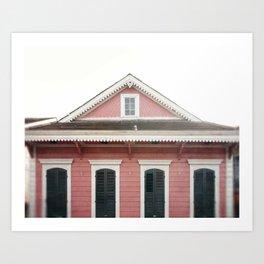Pink House in Nola Art Print
