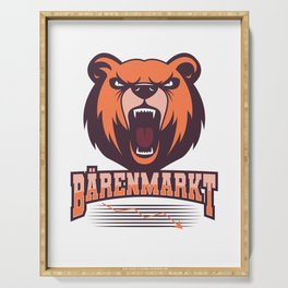 Bear Bear Market Stock Market Stock Market Investor Trader Cool Serving Tray