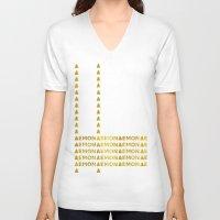 lemon V-neck T-shirts featuring Lemon by ARTbyJWP
