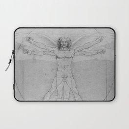 Leonardo da Vinci Vitruvian Man with Wings Study of Angels Laptop Sleeve