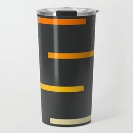 Abstract Minimal Retro Stripes Ashtanga Travel Mug