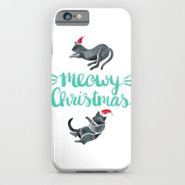 Meowy Christmas – Mint Type iPhone Case