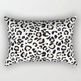 Leopard Animal Print Watercolour Painting Rectangular Pillow