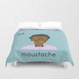 M is for Moustache Duvet Cover