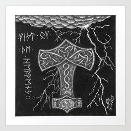 Mjölnir Art Print