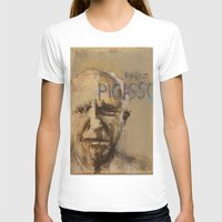 pablo picasso T-shirts featuring 50 Artists: Pablo Picasso by Chad Beroth