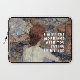 Henri de Toulouse-Lautrec, Die Toilette (1889) / Halsey, Strangers ft. Lauren Jauregui (2017) Laptop Sleeve