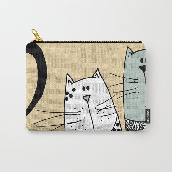 Mr & Mrs Cat Carry-All Pouch