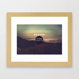 nVADE // Earth Framed Art Print