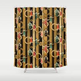 Art Deco Charleston Dancers Pattern Shower Curtain