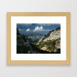 Kotor Bay in Montenegro Framed Art Print