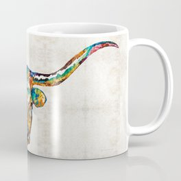 Colorful Longhorn Art By Sharon Cummings Coffee Mug