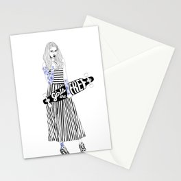 Girls are free Stationery Cards