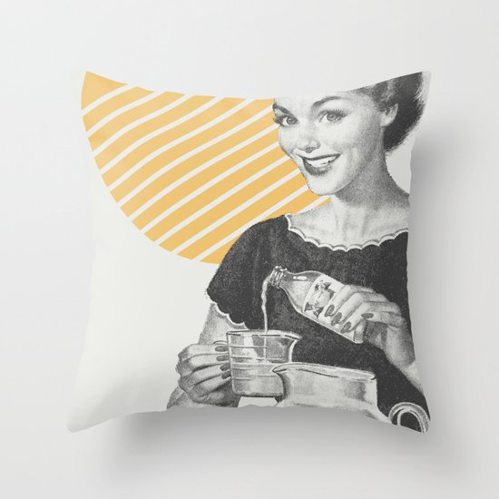 When Life Hands You Lemon Juice Concentrate -- Make Lemonade. Throw Pillow