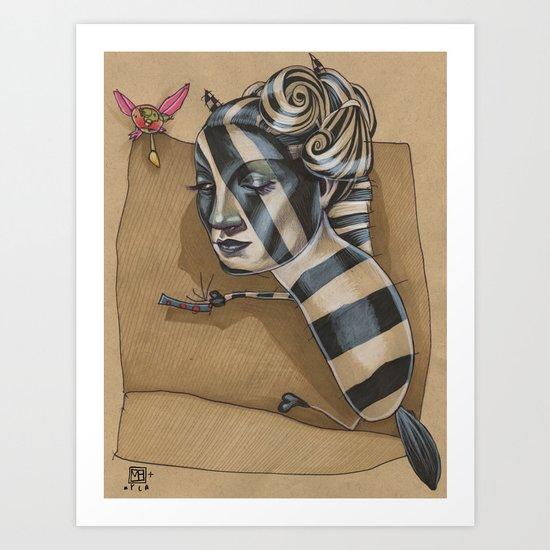 ZEBRA MAMA  Art Print