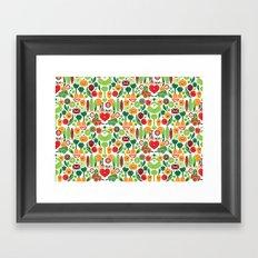 Vegetables tile pattern Framed Art Print