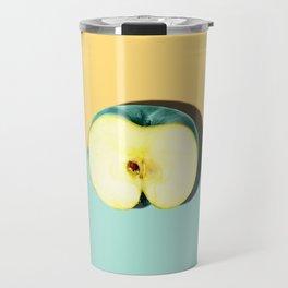Tropical Fruit. Apple Half Slice Travel Mug