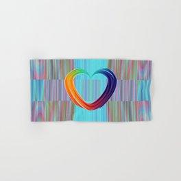 Fractal Art- Pattern Art- Heart Art- Blue Hearts-Pixxie Stixx- LGBT Art- Love- Healing Energy Art Hand & Bath Towel