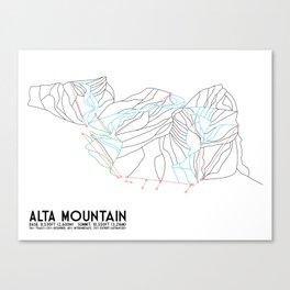 Alta, UT - Minimalist Trail Map Canvas Print