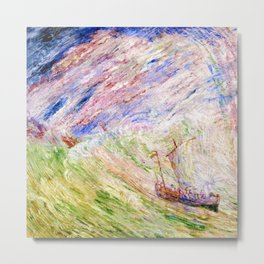 Christ Calming the Seas by James Ensor Metal Print