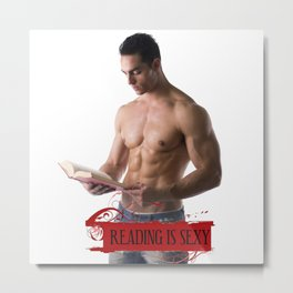 Reading Is Sexy Metal Print
