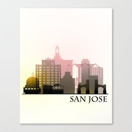 San Jose Skyline, California Canvas Print