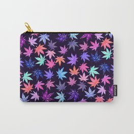 Pink Hempy Leaves Carry-All Pouch