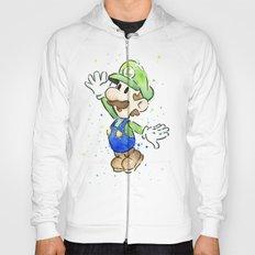 Luigi Watercolor Mario Nintendo Art Hoody