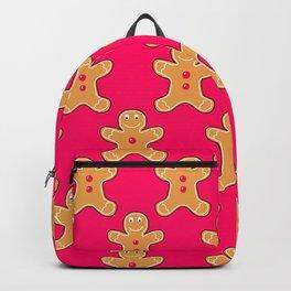 Pink Gingerbread Men Backpack