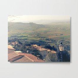 Tuscany. Cortona. Metal Print