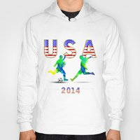 usa Hoodies featuring USA by Robin Curtiss
